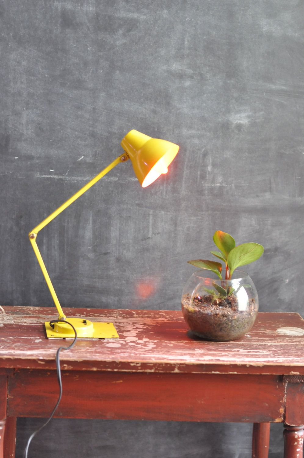 Vintage Modern Yellow Small Task Lamp | Task lamps and Vintage modern