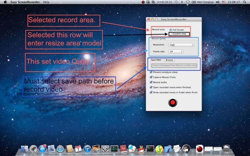 Screen Recorder Hd Una Alternativa A Quicktime A La Hora De Grabar La Pantalla De Nuestro Mac Grabado Pantalla Mac