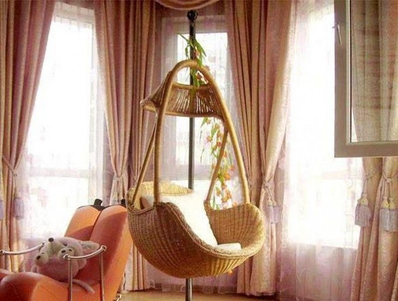 Bedroom incredible wicker hanging chair from ceiling for Indoor hanging chair for bedroom