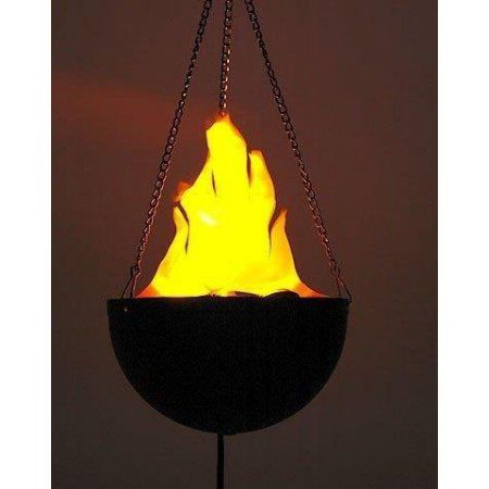 Lightahead® Hanging Flame Light with UL adaptor Realistic Fire - halloween decorations at walmart