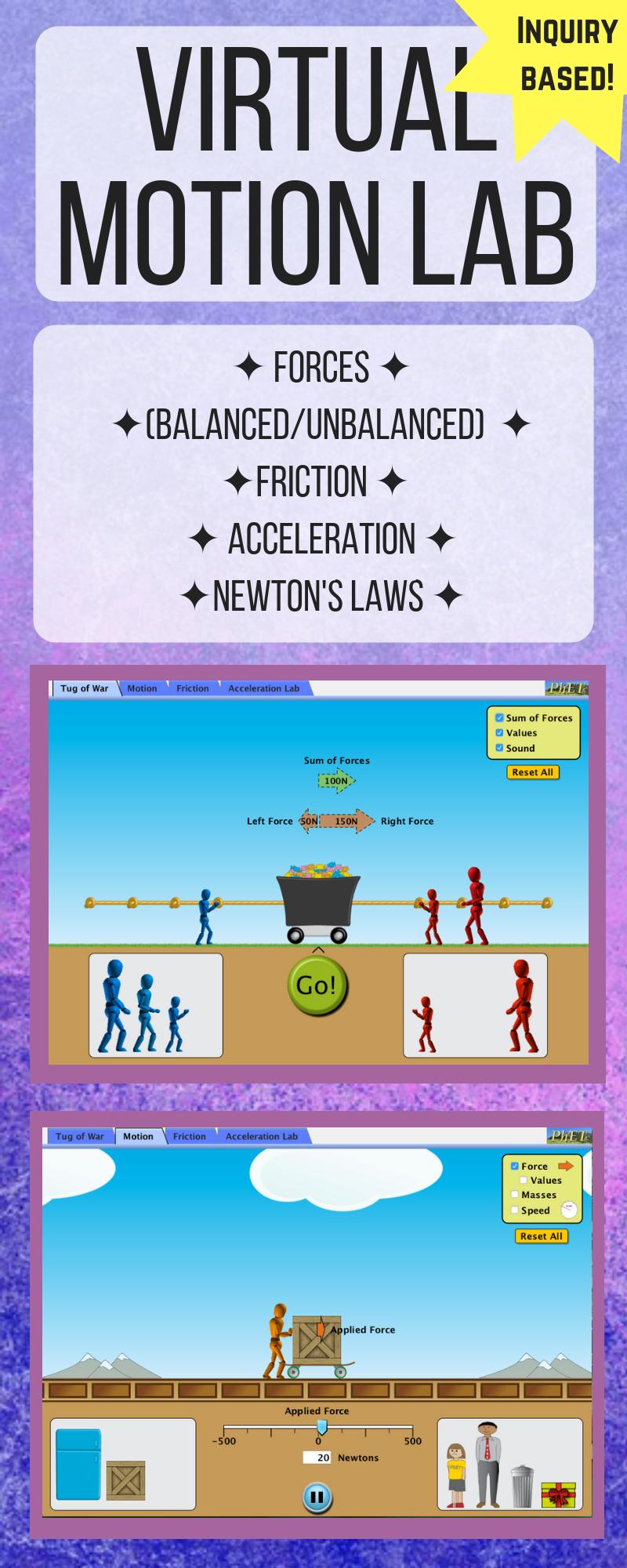 Phet Forces And Motion Worksheet Answers - Thekidsworksheet