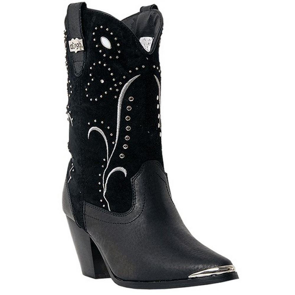 Dingo Women's Black Ava Western Boots DI 587~ Size 7.5