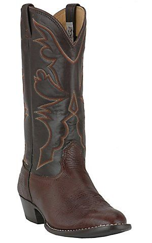 24be16c00ed Larry Mahan® Men's Chocolate Aztec U-Toe Shoulder Western Boots ...