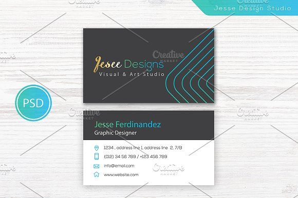 Modern business card template pinterest business cards card modern business card template templates modern business card template vol 01specifications double sided business card photoshop cs by jesse designs friedricerecipe Images