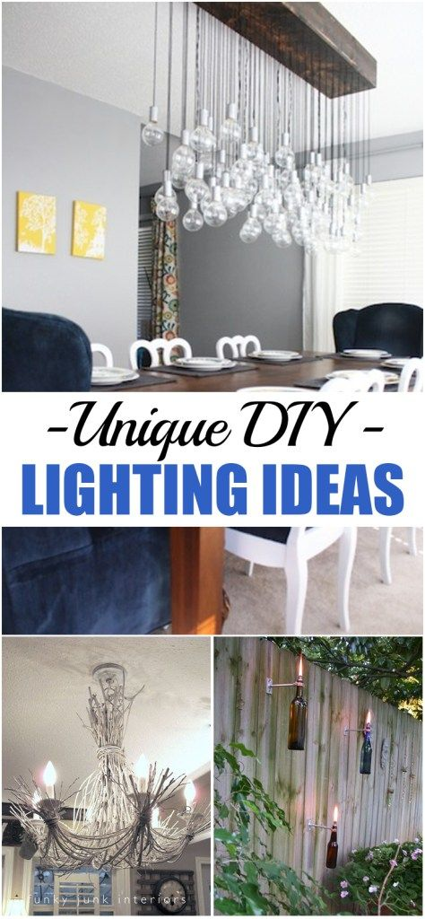 Unique DIY Lighting Ideas | Unique, Household and Decorating