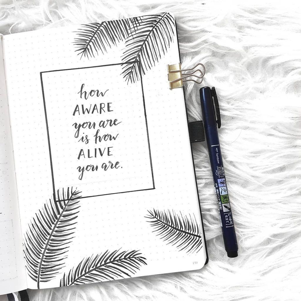 30 Minimalist Bullet Journal Spreads You Must Try Right Now