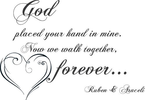 Walk Together Forever Wall Decal Beautiful Quotes And Sayings 3