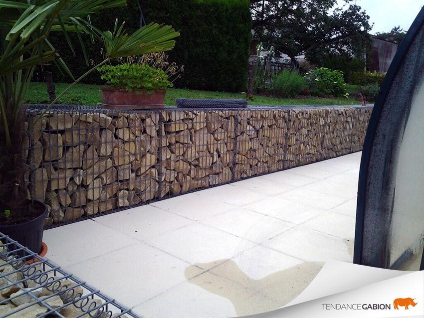 tendance gabion petit mur de sout nement jardin japonais pinterest petit mur de. Black Bedroom Furniture Sets. Home Design Ideas
