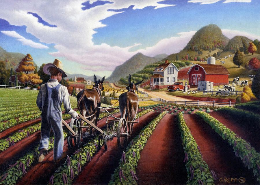 Grant Wood Painting Originals for Sale Farm paintings