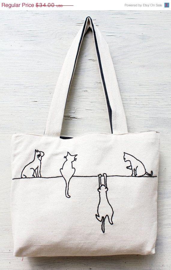 Bolso con gatos | patrones | Pinterest | Bordado, Bolsos y Costura