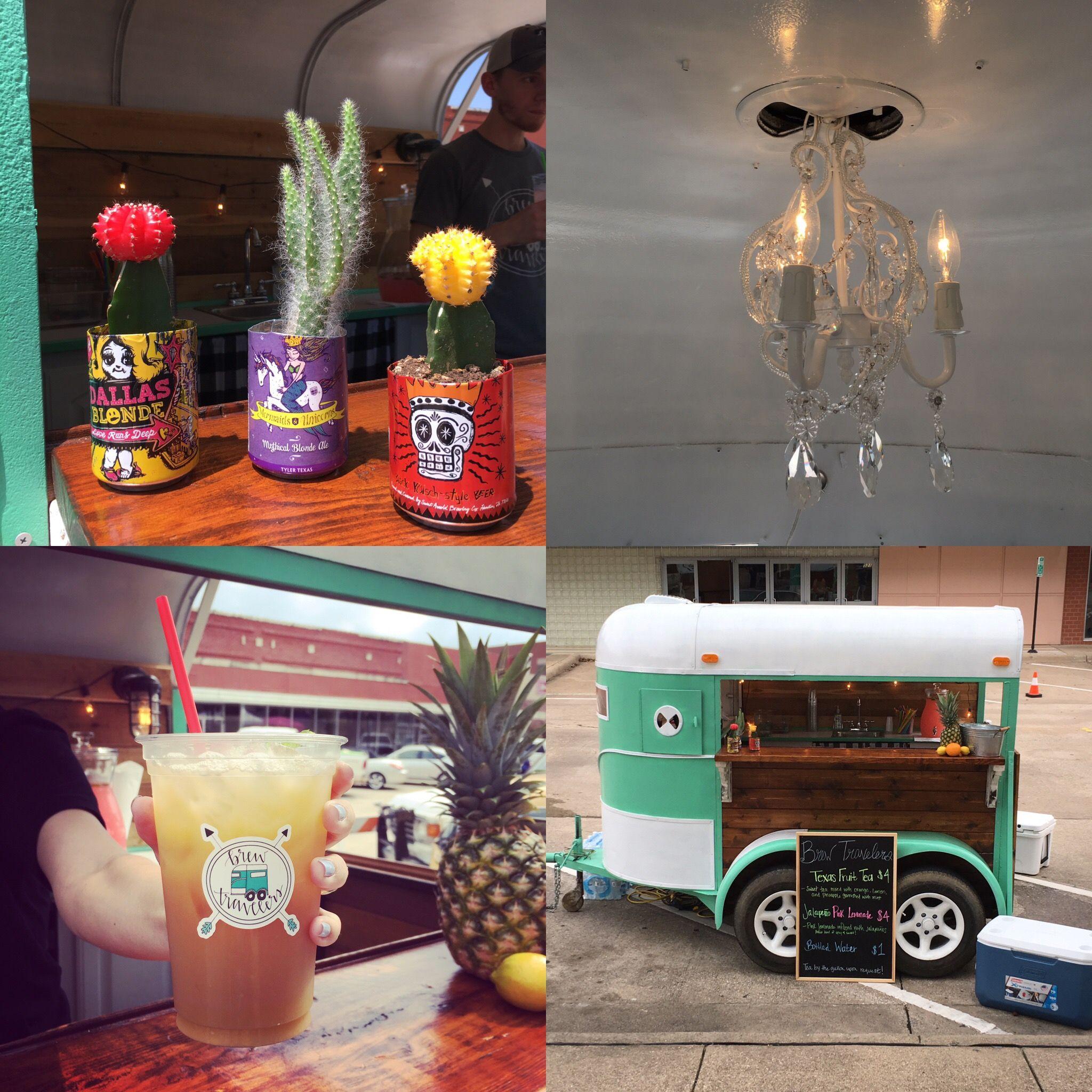 Horse trailer bar beer cactus family chandelier fruit