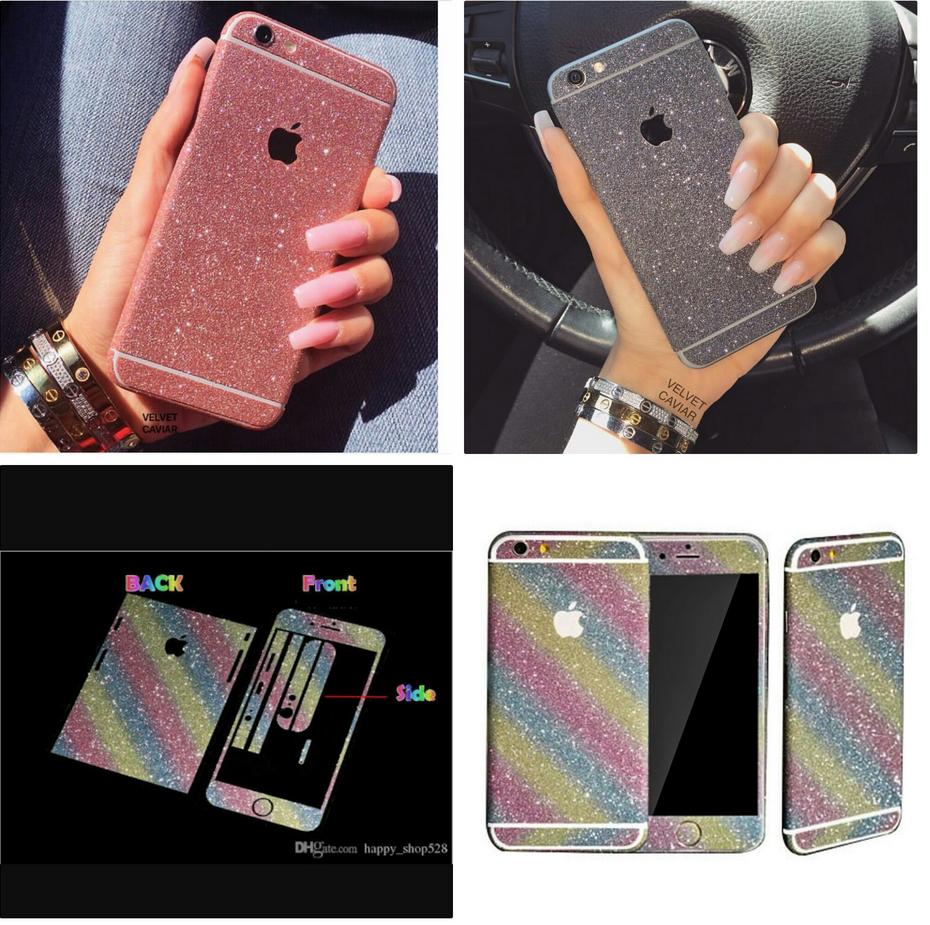 best cheap df67e 3a02f 2017 Mobile Phone Sticker for iPhone 7/7plus Glitter Sticker Skin ...
