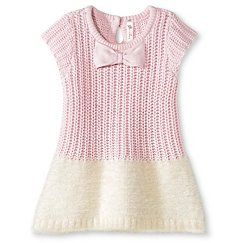 Baby Girls' Sweater Dress - Light Pink