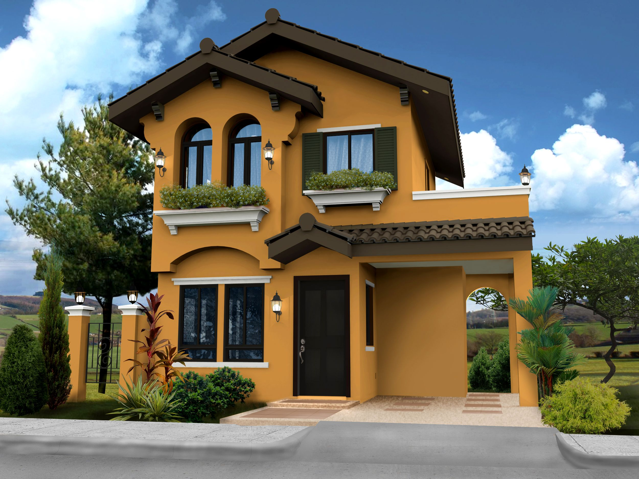 Modern 2 storey house designs philippines hiqra pinterest for House models in the philippines