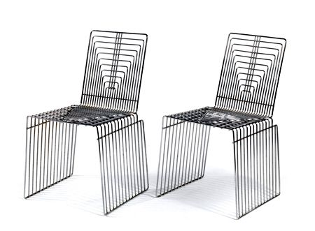 Max Sauze, Wire Chairs, France, 1970