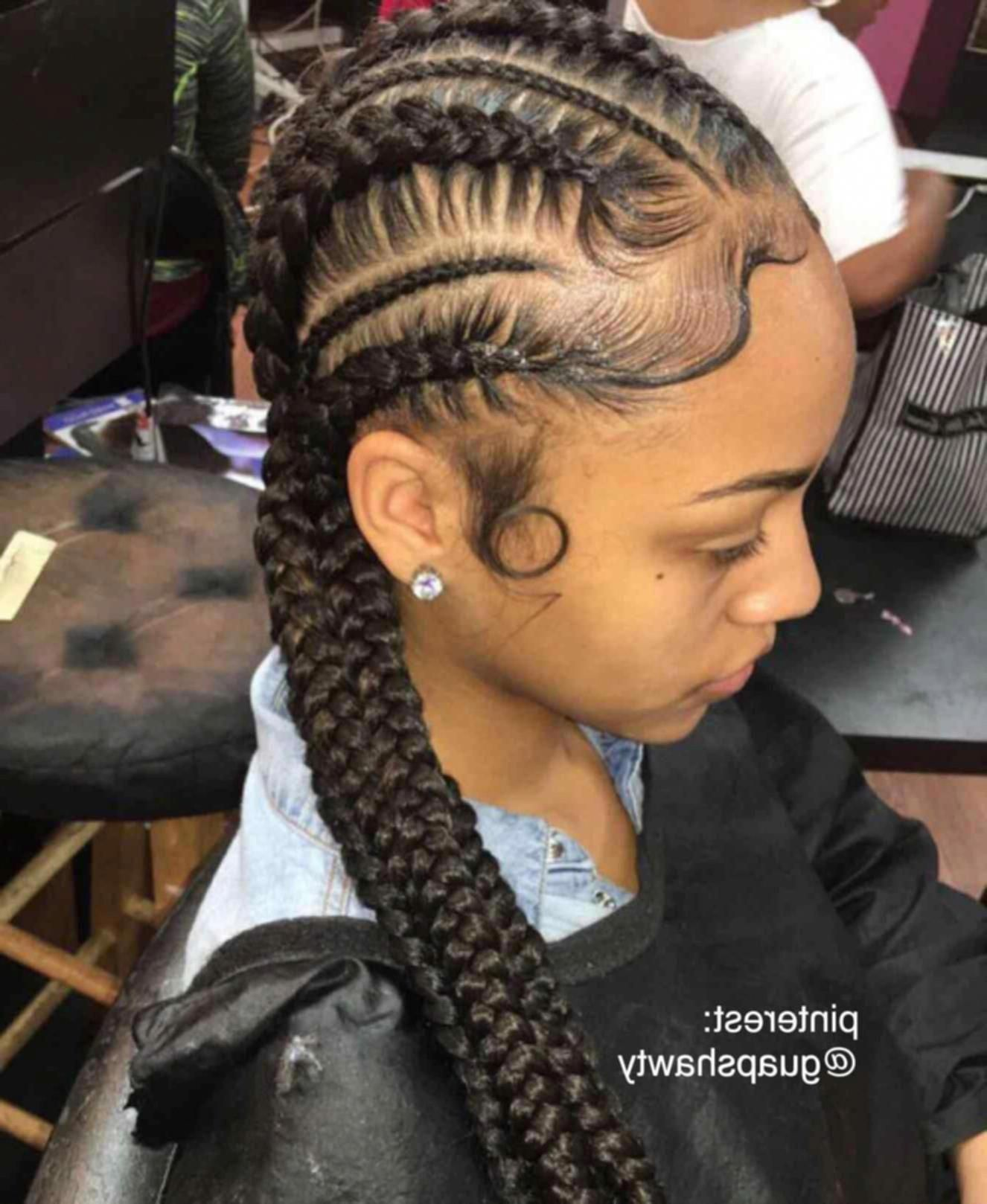 2 French Braid Hairstyles With Weave Blackhairstyles Blackhairstyleswithweave Weave Hairstyles Braided Hair Styles Braids With Weave