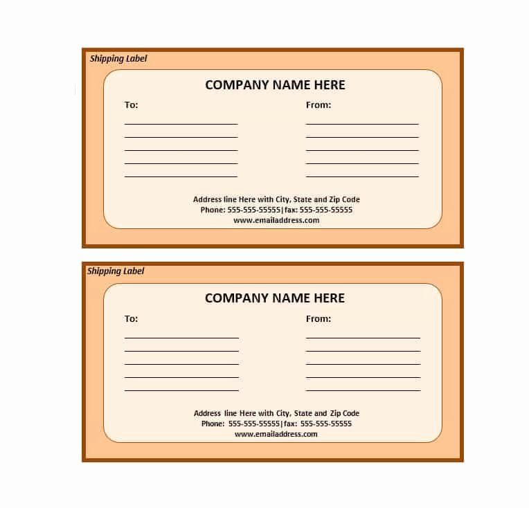 24 Shipping Label Template Free In 2020