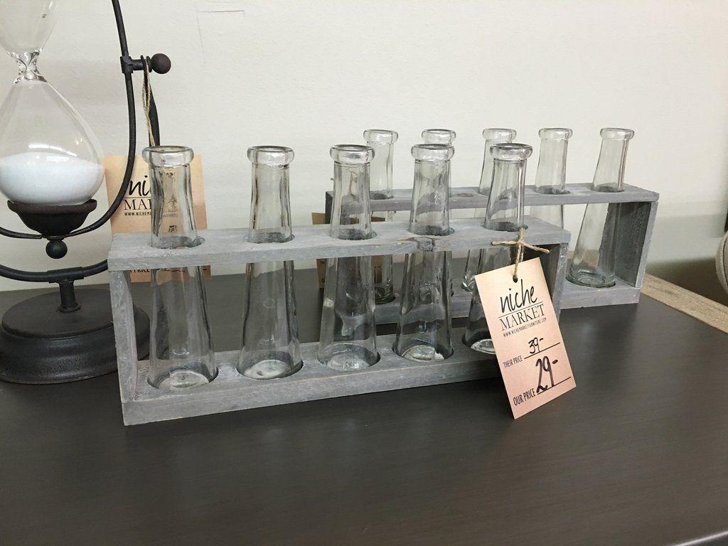 Distressed gray holder w5 glass vases furniture market