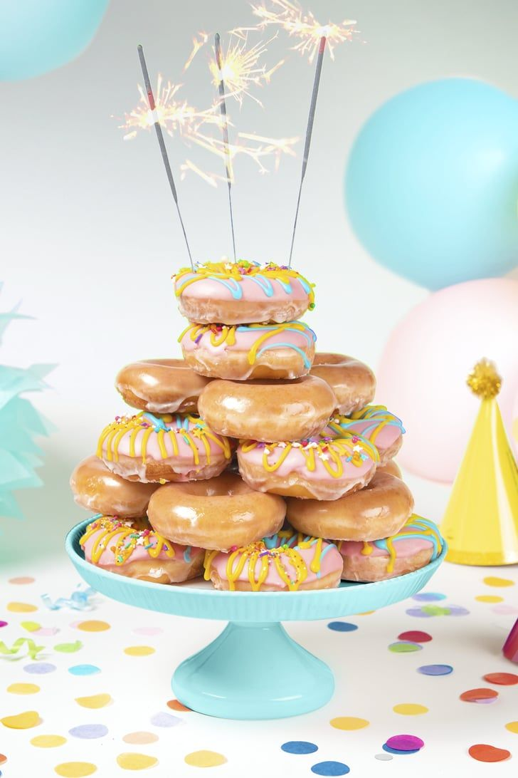 Krispy Kreme's Cake-Batter-Filled Doughnuts Are the Sugary Clusterf*ck You Deserve