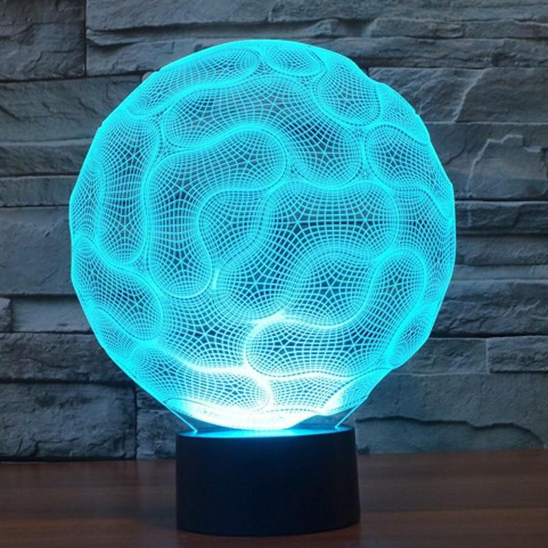 3d Brain Illusion Mood Lamp With Images 3d Illusion Lamp