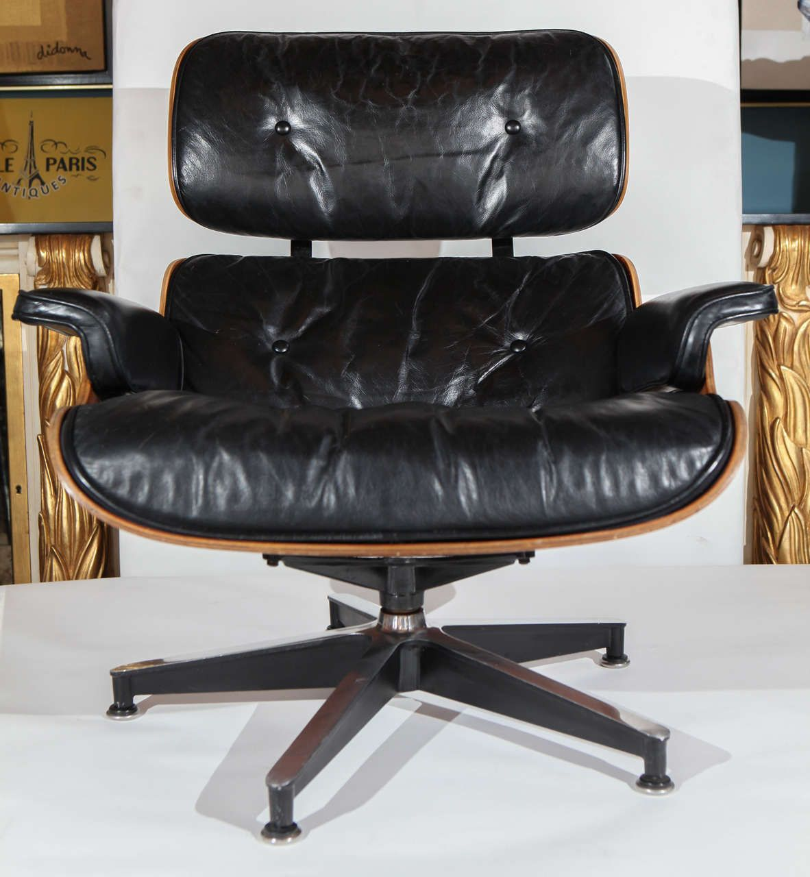 Early Original Eames Lounge 670, 671 Armchair and Ottoman