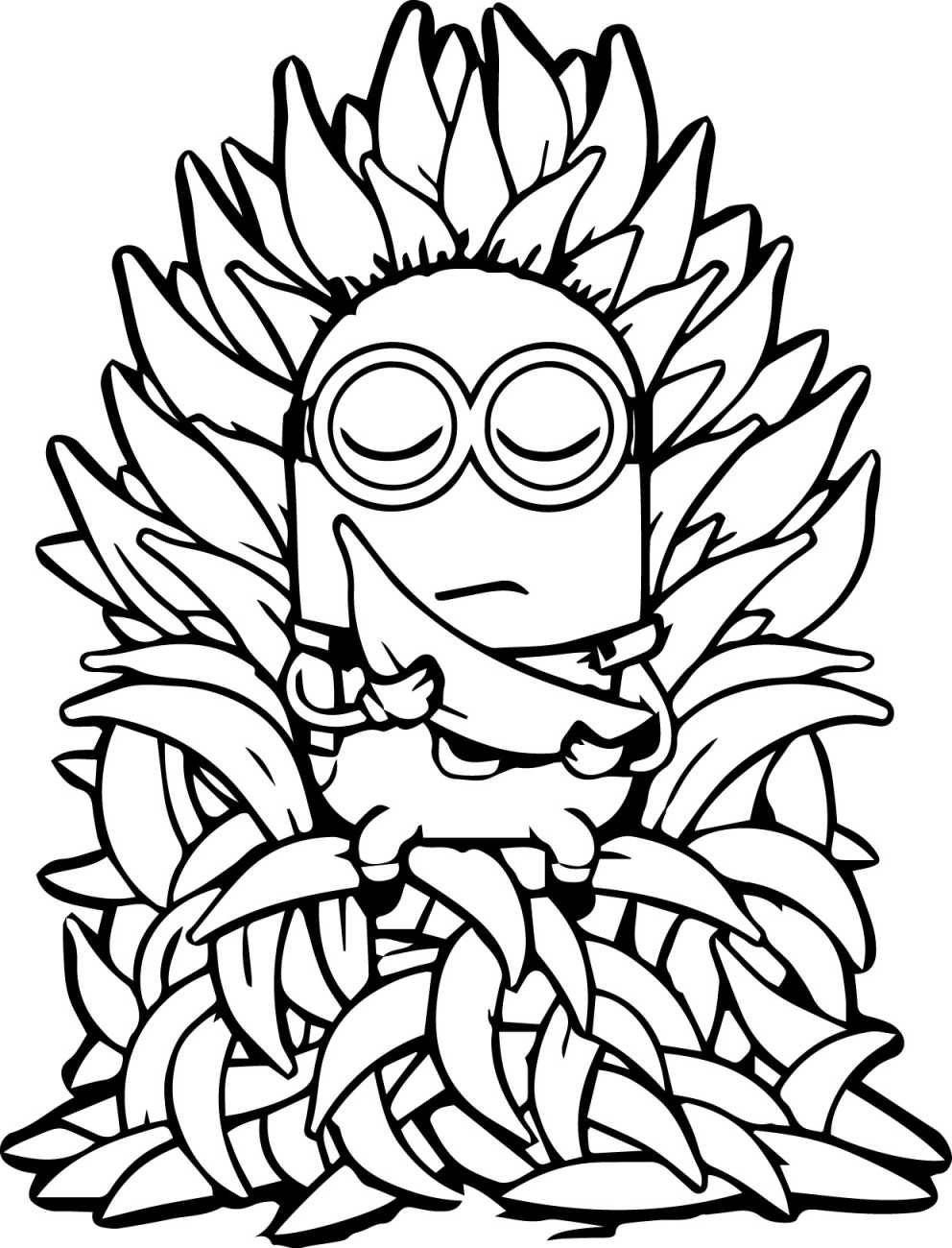 Free Minion Coloring Pages Dÿz The Minion The Banana Throne Kizi Free 2020 In 2020 Minion Coloring Pages Fall Coloring Pages Flag Coloring Pages