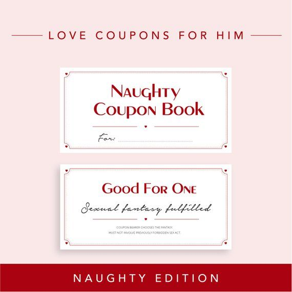 Naughty Edition // Love Coupons for Boyfriend, last minute gift, DIY Printable Coupon Book, Husband Gift, Valentine's gift for him