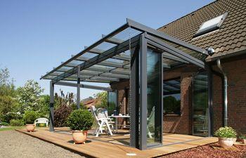 気密性が高い「3方向独立開放仕様」です(ガラスパネルはsl45を使用) Solarlux サンルーム