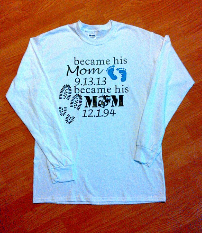 Marine mom shirts by Kelley on My Marine! Usmc mom