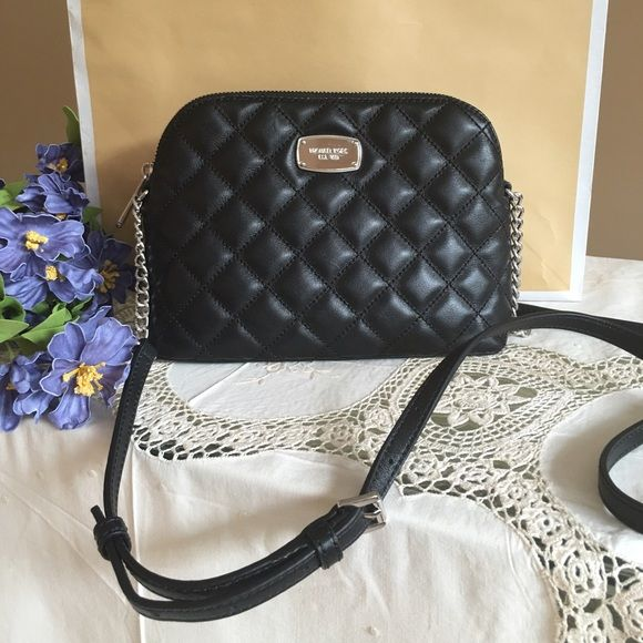 f8c73a10d9be New MK handbag MICHAEL KORS CINDY QULTED LEATHER LARGE DOME CROSSBODY
