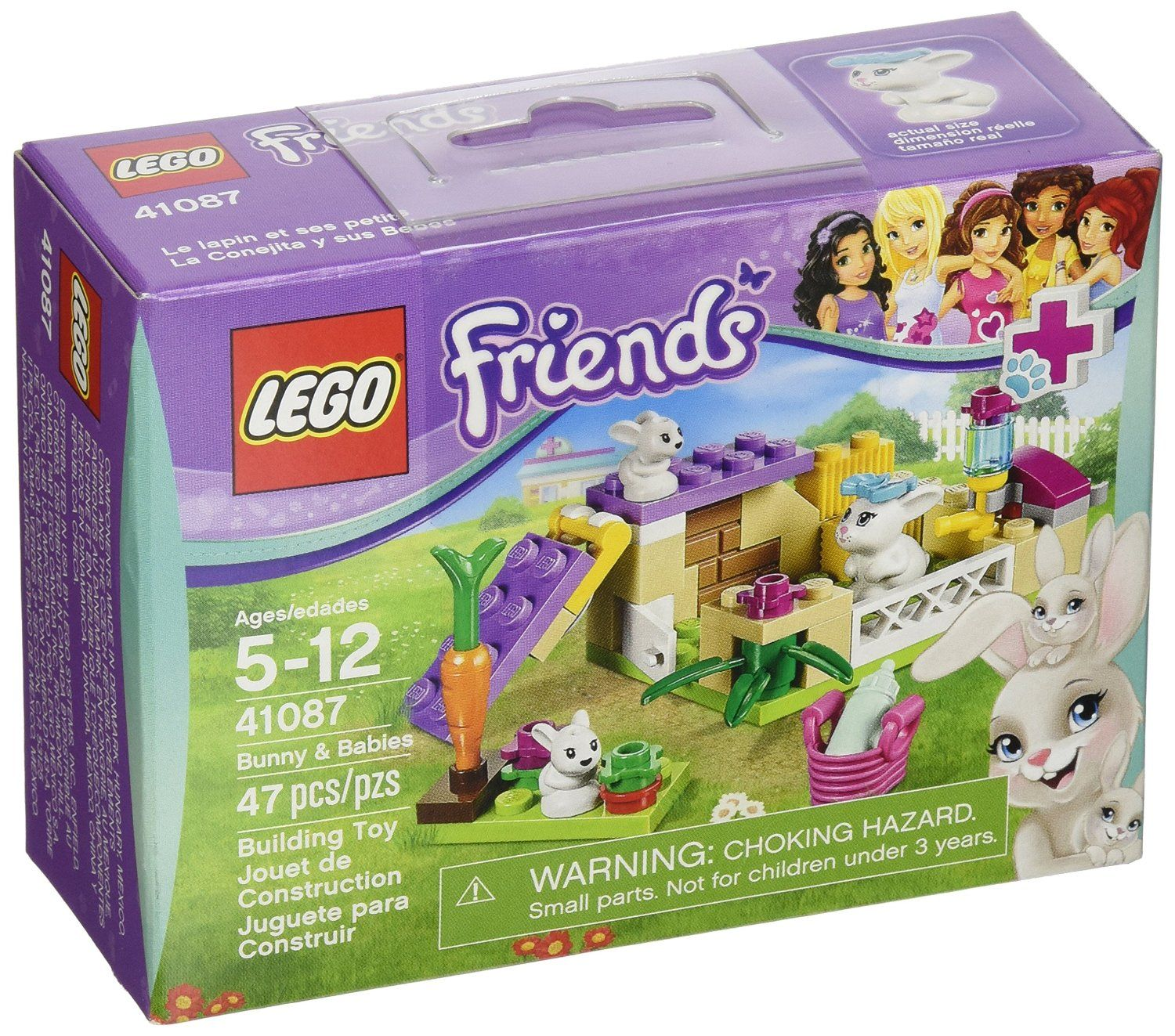 Amazon.com: LEGO Friends 41087 Bunny and Babies: Toys & Games ...