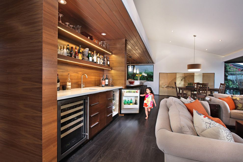 engaging home wet bar cabinets image decor in family room design ideas with engaging beige sofa dark wood floor dining table divider screen