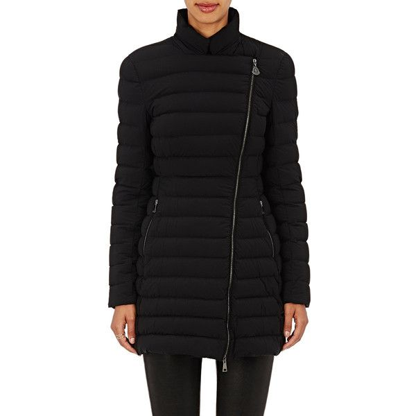 Moncler Women's Anastasia Coat Size 1 (S) ($1,835) ❤ liked on Polyvore featuring outerwear, coats, colorless, moncler, fur-lined coats, moncler coats, feather coat and clear coat