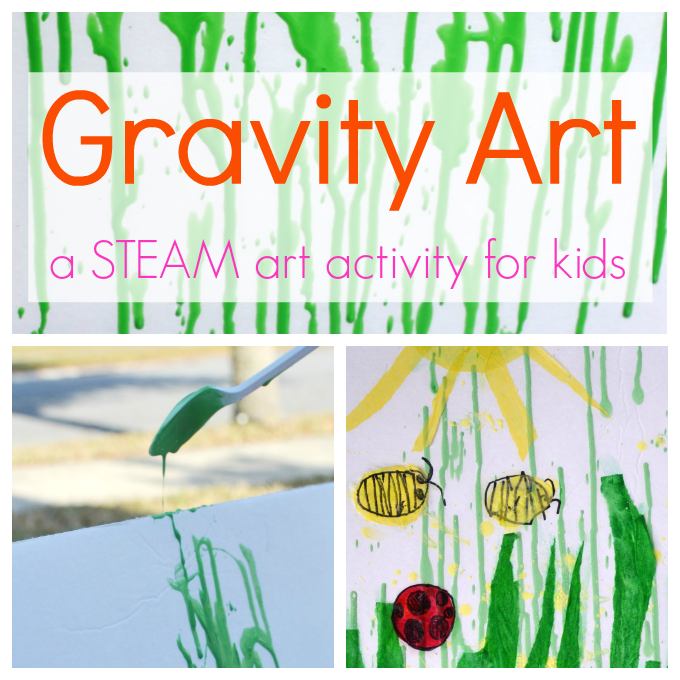 Gravity Painting :: A STEAM Art Project for Kids | Art ...