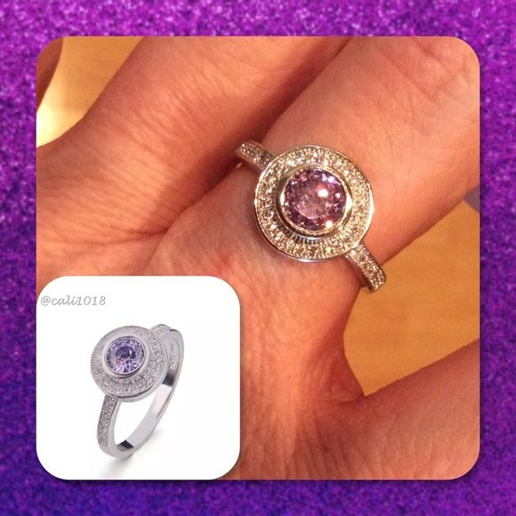 🆕.925 Silver Amethyst & Topaz Ring New 925 Sterling Silver Amethyst & White Topaz Ring   Material: .925 Sterling Silver  Color : Purple, white, silver  Ring Size: 6, 7, 8, 9  Stone: Amethyst & White Topaz Glam Squad 2 You Jewelry Rings