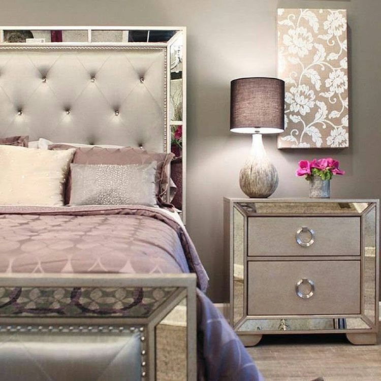 I Want This Bedroom Set Mirrored Bedroom Furniture Home Decor