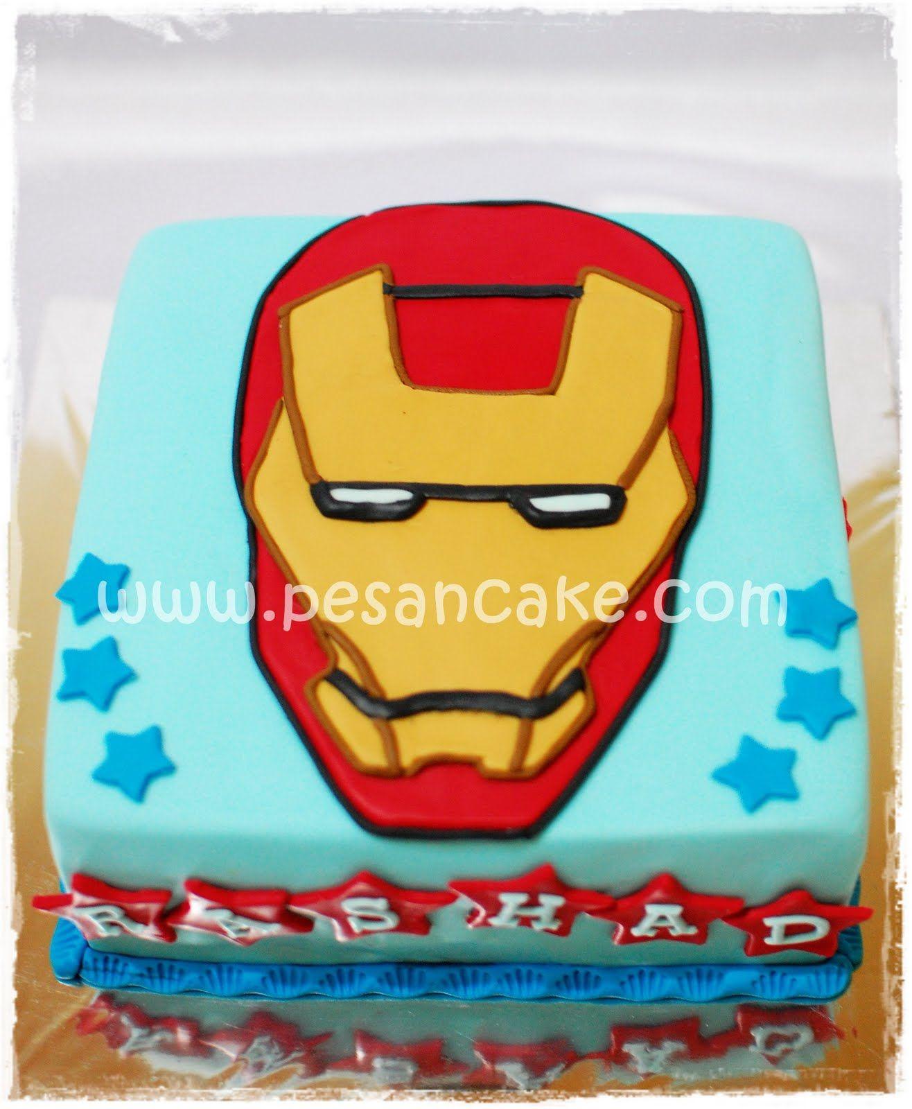 Cake Dgn Topeng Iron Man Cake Coklat Filling Ganache Uk 18x18 Cover