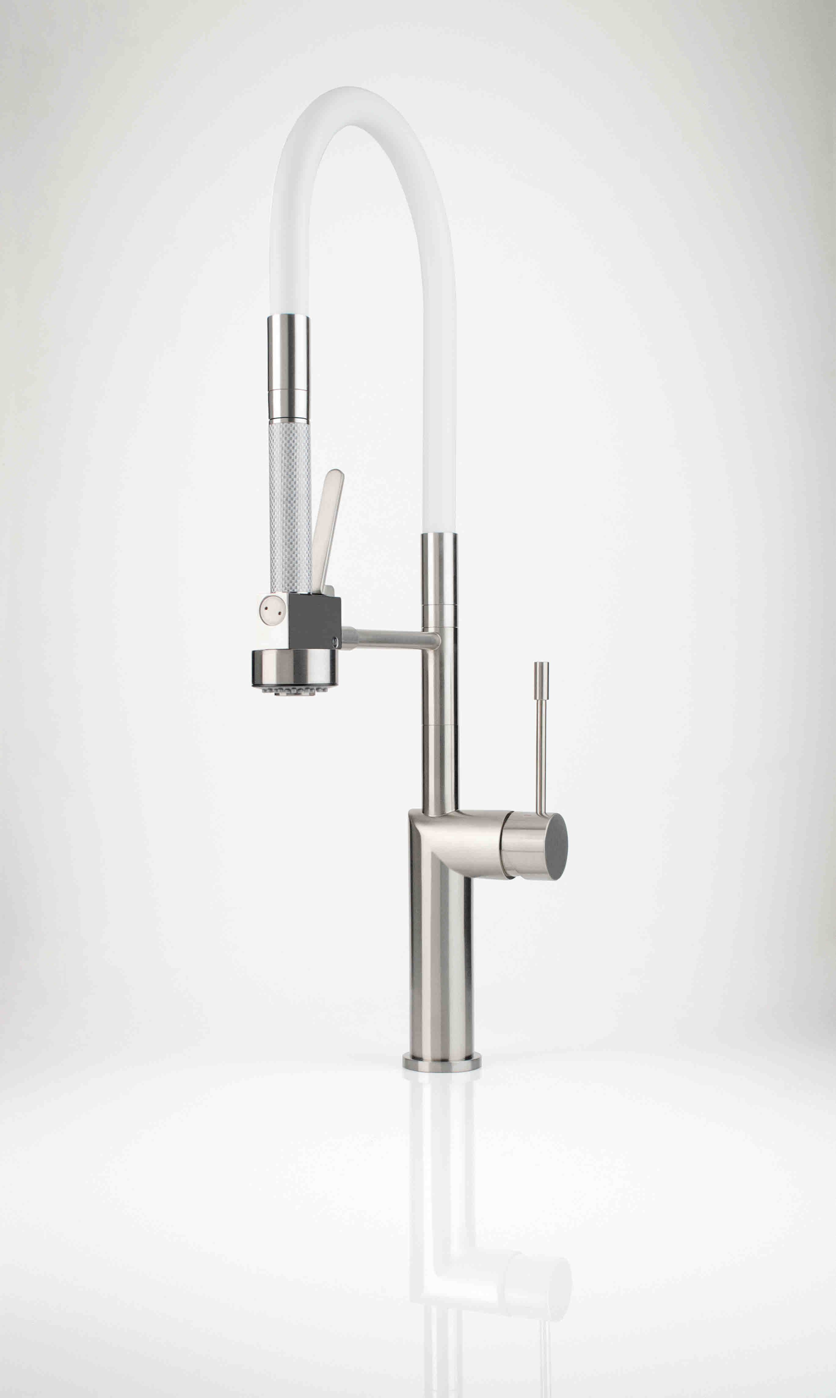 White Kitchen Faucet With Spray