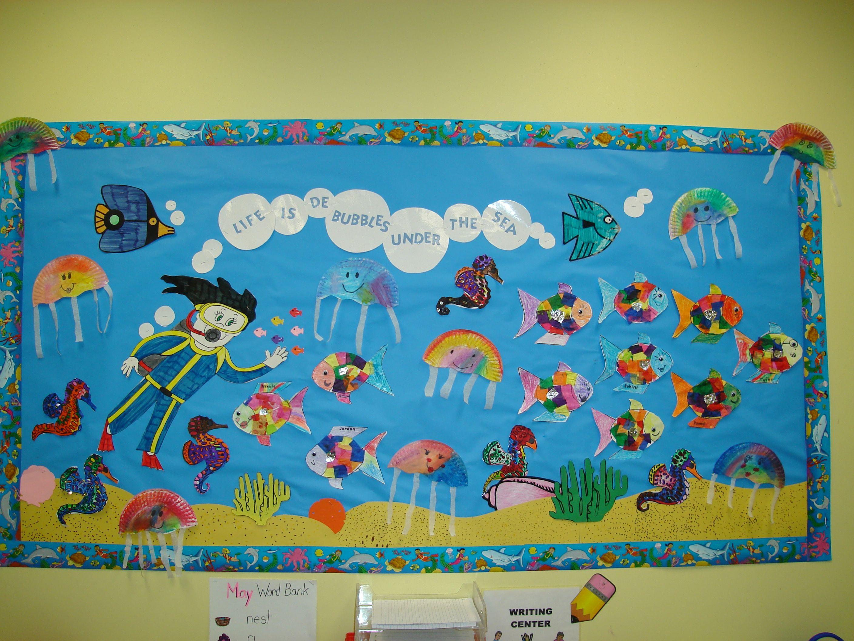 Crayon themed classroom ideas kindergarten is oceans for Theme board ideas