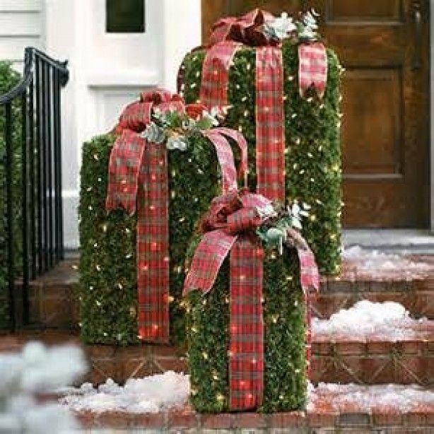 Kerstdecoratie Voor Buiten Door Bijbabs Juleudsmykning Juletid Juledekorationer