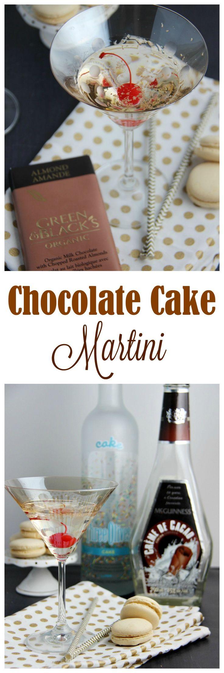 Chocolate Cake Martini Recipe Martinis Chocolate cake and