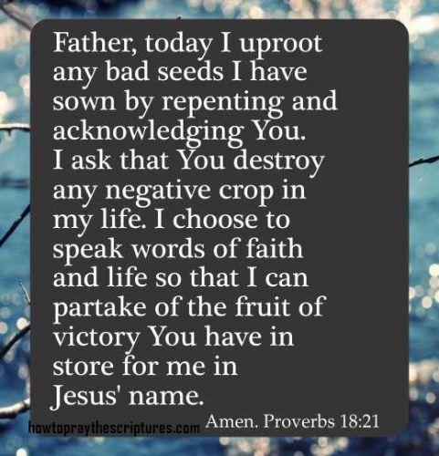 How To Pray Proverbs 18:21 | Prayer | Prayer verses, Gods love