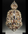 Sconce, 17th Century  Purchased by Louis XIV in 1684 from the dealer Le Brun, the sconce features a multitude of stones and cameos. The stones are set off by a metalwork mount in the style of Pierre Delabarre, a 17th-century goldsmith.