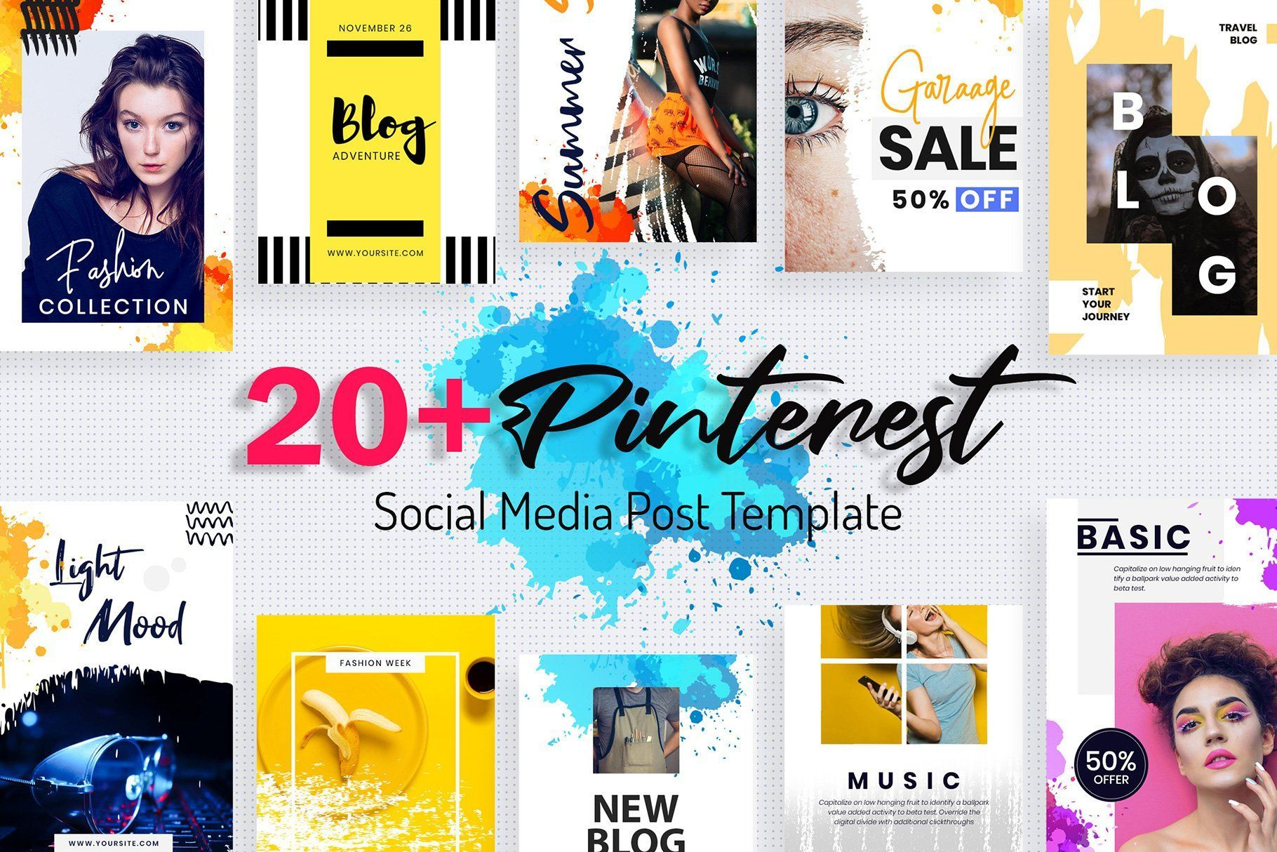 Pinterest Post Templates Social Media Template Post Templates Social Media Pinterest