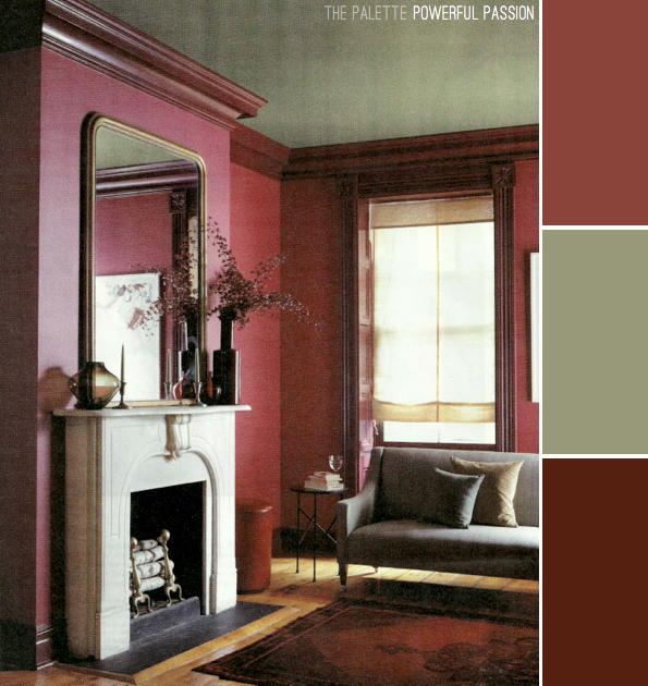 One room : four different colour schemes.