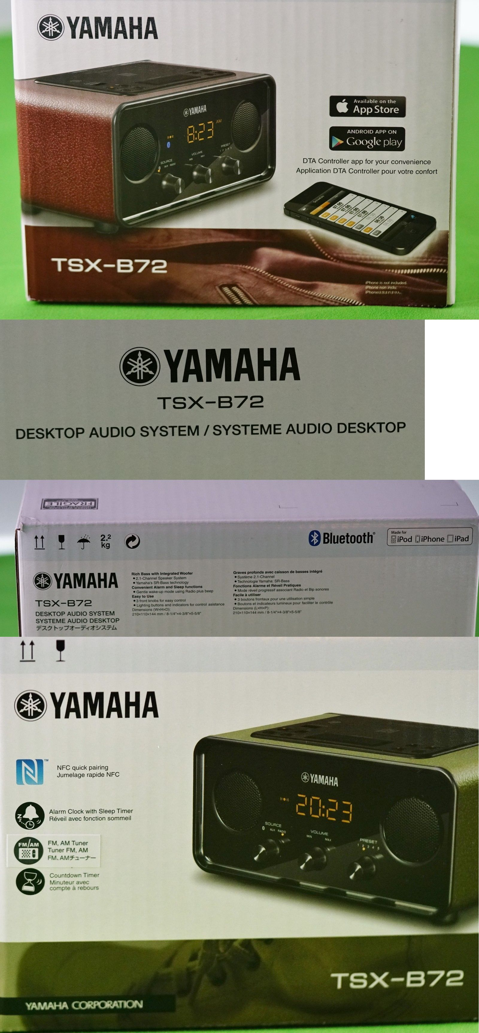 Alarm Clocks 79643: Yamaha Tsx-B72 Desktop Audio System Bluetooth Nfc Alarm Clock Radio Usb Charger -> BUY IT NOW ONLY: $141.41 on eBay!