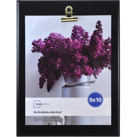 Mainstays 8x10 Clip Picture Frame, Black - Walmart.com | For the ...