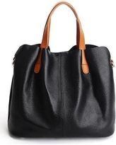08461c012201 Costbuys Fashion 100% Genuine Leather Small Women Bucket Ladies Real  Cowhide Female Handbags Teenagers Messenger Bag Hobo Satchel - Black