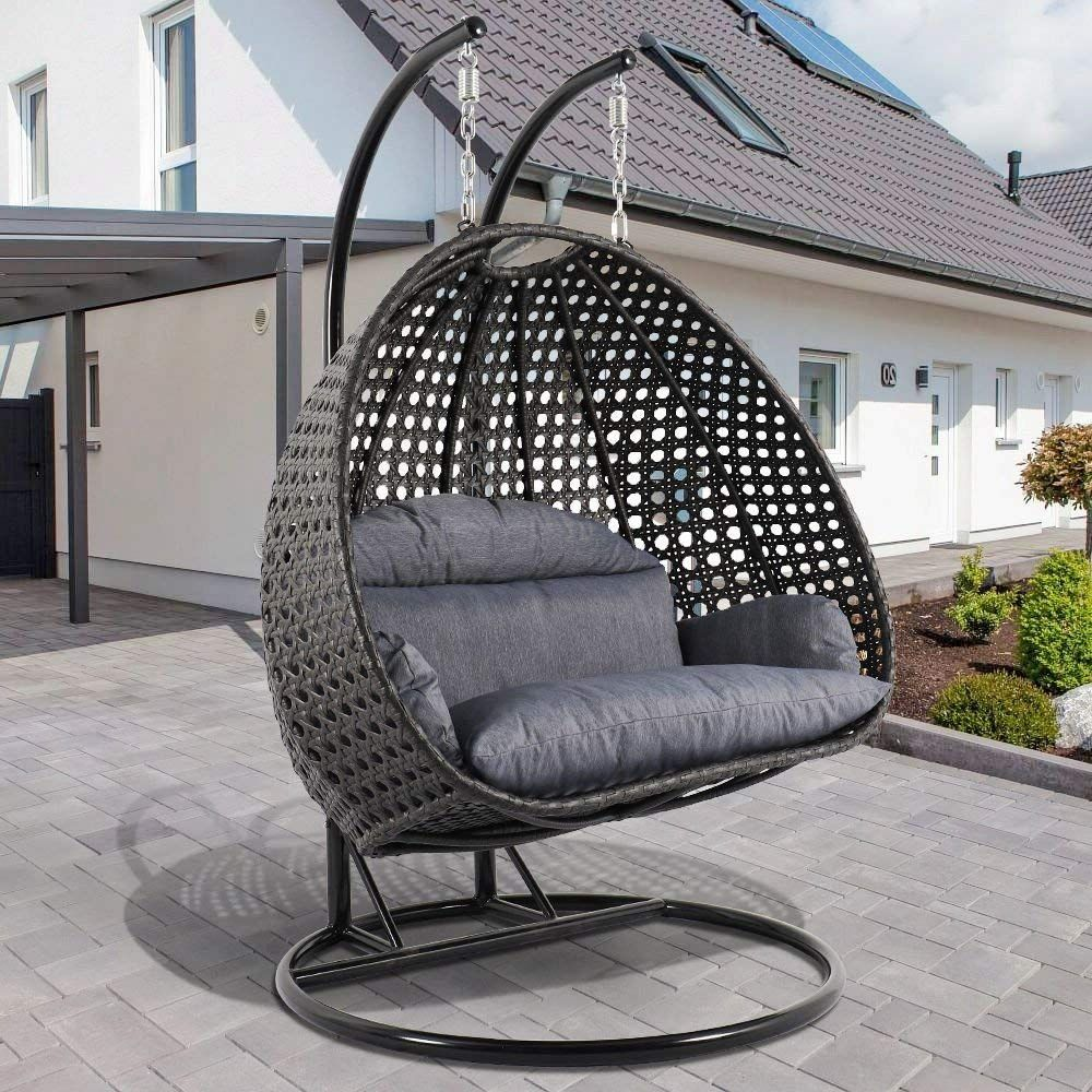Hanging Chair Outdoor Amazon Deluxe Swing Chair Outdoor Furniture Pe Rattan Wicker
