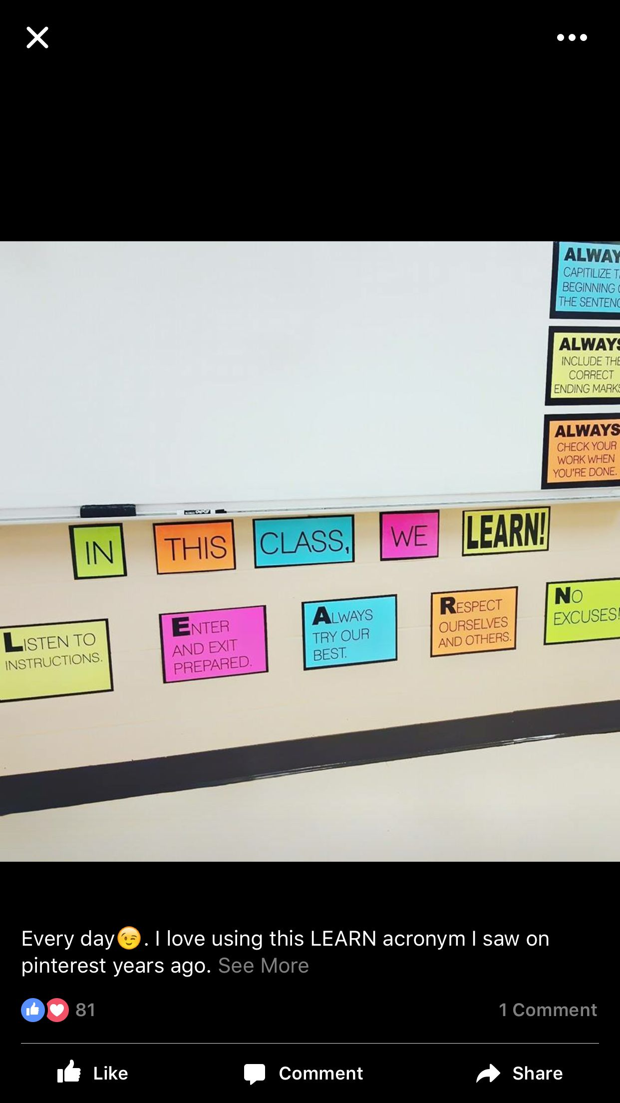 Learn acronym 4th grade! English classroom, Learning